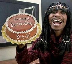 The Best Happy Birthday Memes - Happy Birthday Funny - Funny Birthday meme - - It's Rick James bitch- birthday humor from chapelle show The post The Best Happy Birthday Memes appeared first on Gag Dad. Funny Happy Birthday Meme, Happy Birthday Quotes, Happy Birthday Images, Birthday Messages, Funny Birthday Cards, Happy Birthday Wishes, Birthday Greetings, Birthday Memes, Happy Birthdays