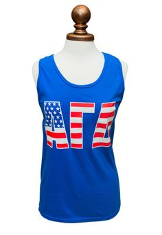 American Flag Letter Tank – Alpha Gam Boutique