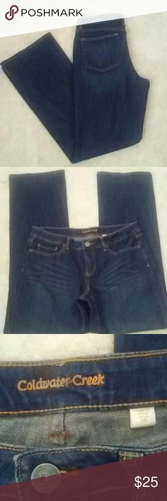 Coldwater Creek Blue Denim Pants Size 10 NWOT Blue Jeans Inseam 32' Thank you for stopping by!! Please check out my closet for other great finds. Coldwater Creek Jeans Boot Cut