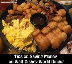 Saving money on Walt Disney World Dining is easy with these helpful tips and dining location ideas throughout the four theme parks, Disney Springs, & hotels