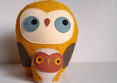 handmade giant plush owl Herman by sleepyking on Etsy. $46.00, via Etsy.    FELT owls DIY