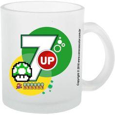 Caneca de Vidro 7up Life Super Mario Bros