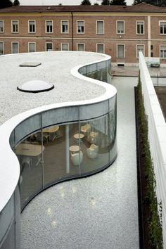 Arata Isozaki and Andrea Maffei. New Town Library in Maranello, Italy