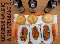 Curryvurst & Bier in Bayern vor der Partnachklamm