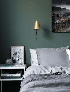 BEAUTIFUL DARK COLORED BEDROOM