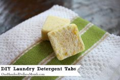 DIY Homemade Laundry Detergent Tabs - I like this one because it makes the tabs with vinegar which is a natural fabric softener to boot!