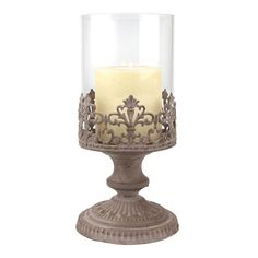 Stonebriar Collection Vintage Medium Hurricane Candleholder, Other Clrs