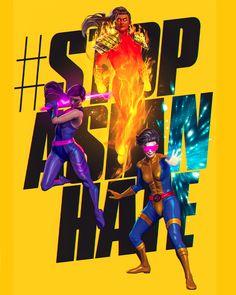 Stop Asian Hate by Pretty-cool-huh Spiderman Vs Superman, Batman, Psylocke, Alien Logo, Pretty Cool, X Men, Nice Tops, Marvel Dc, Iron Man