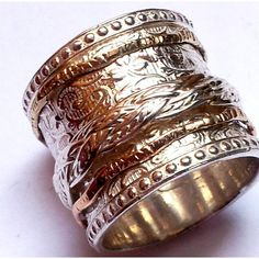spinner ring , spinning ring, silver and gold rings , jewelry rings , celtic spinner rings-rings-Bluenoemi Jewelry Womens Jewelry Rings, Bridal Jewelry, Silver Jewelry, Women Jewelry, Fashion Jewelry, Silver Earrings, Turquoise Jewelry, 925 Silver, Diamond Jewelry