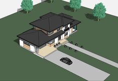 DOM.PL™ - Projekt domu ATS AT-154 CE - DOM UP2-11 - gotowy koszt budowy 2 Storey House Design, Roof Design, Villa, Wall Decor, Architecture, Gate, House Ideas, Cool Houses, Home Layouts