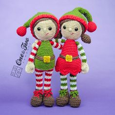 Buy Jingle and Belle Santas Helper amigurumi pattern by One and Two Company