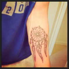 new tattoo! dream catcher with familys initials
