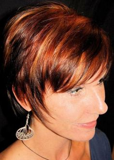 highlights and lowlights for red hair | Dark red hair color with highlights pictures 1