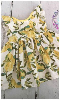 summer lemon toddler dress with ruffles. #pring #summer #affiliate #toddler