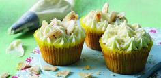 Banana cupcakes Not only are bananas delicious, they are full of potassium. This easy cupcake recipe is sure to impress the taste buds! Visit www.flora.com for more recipe ideas to keep the kids busy!