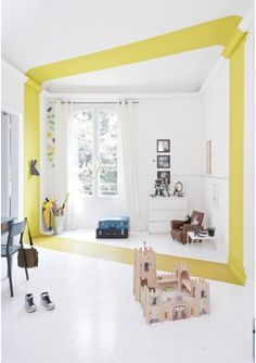 Three Times When a Clever Paint Job Became a Majorly Bold Focal Point Apartment Therapy Deco Design, Wall Design, House Design, Floor Design, Ceiling Design, Creative Wall Painting, Creative Walls, Famous Interior Designers, Celebrity Houses