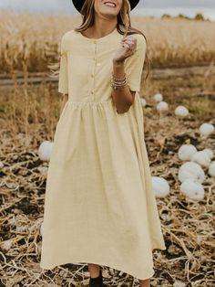 Chicfeeling-Feeling the Latest Women Trends Everyday Elegant Dresses, Casual Dresses, Fashion Dresses, Fancy Dress Design, Resort Dresses, Discount Dresses, Chic Dress, Outerwear Women, Linen Dresses