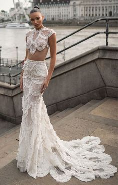 "Lior Charchy Wedding Dresses 2019 ""London"" bridal collection – Jaw dropping and stylish wedding gowns. This bridal collectiion is for the bride who looking. Western Wedding Dresses, Bohemian Wedding Dresses, Long Wedding Dresses, Designer Wedding Dresses, Bridal Dresses, Gown Wedding, Lace Wedding, Two Piece Wedding Dress, Amazing Wedding Dress"