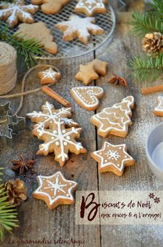 vegan : Tous les messages sur vegan - Page 11 Xmas Cookies, Gingerbread Cookies, Vegan Christmas Cookies, Cookies Vegan, Low Cal, Gateaux Vegan, Cookie Recipes, Dessert Recipes, Christmas Biscuits