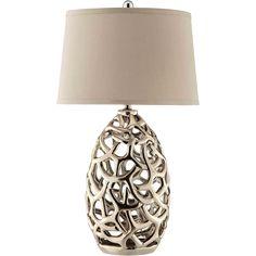 Ripley 1-light Metal Table Lamp (Ripley), Gold (Ceramic)