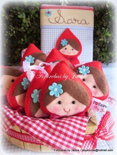 Fofurebas By Jackie: Lembrancinhas Chapeuzinho Vermelho da Sara