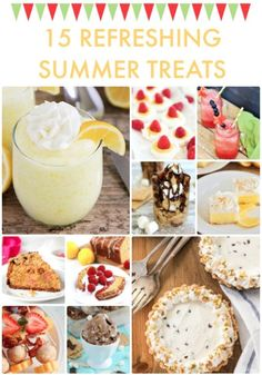 Warmer weather means yummier treats around my house! It's always so nice to cool off after a hot day with a delicious dessert.  15 Refreshing Summer Treats from this week's Link Party Palooza! * * * *
