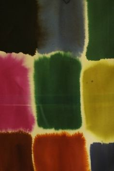 Textile designer Luli Sanchez, some of her designs are featured in West Elm rug collection. Great watercolor and design.