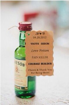 Mini Alcohol Bottles add Wedding Favors