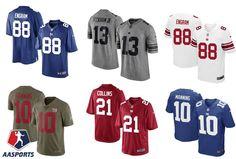 21ebb4bbce Camisa New York Giants - 10 Manning - 13 Odell Beckham Jr - 21 Collins - 87  Shepard - 88 Engram - 26 Barkley
