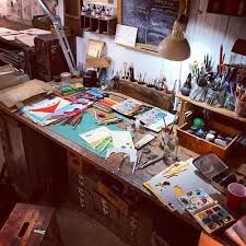 Image result for  artists work spaces