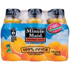 Minute Maid Juices To Go 100% Orange Juice, 6pk 3.88 no sugar added - for several recipes