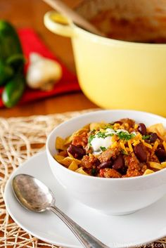 Favorite Chili Recipe   Unsophisticook.com -- this easy chili recipe can be made in your slow cooker or on the stovetop for a delicious and hearty winter meal!
