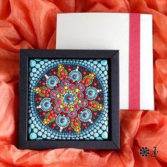 Mandala Dot Art home boho decor acrylic paint on canvas