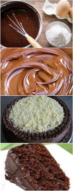 Bolo de Liquidificador..Muito Rápido de Preparar e Fica Fofinho!! VEJA AQUI>>>No liquidificador coloque os ovos, açúcar e óleo Bata um pouco, acrescente a água aos poucos até ficar bem clarinho, uns 2 minutos À parte coloque em uma vasilha a farinha, o chocolate em pó e o sal, misture bem e reserve #receita#bolo#torta#doce#sobremesa#aniversario#pudim#mousse#pave#Cheesecake#hocolate#confeitaria