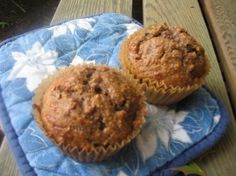 Grain Free Muffins (Blueberry OR Zucchini Spice) :: almond meal or almond flour or hazelnut flour, eggs, honey, baking powder, sea salt, vanilla extract, blueberries or zucchini and spices.