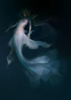 Mermaid by MeryChess - The Art Showcase Mermaid Artwork, Mermaid Drawings, Mermaid Paintings, Fantasy Mermaids, Mermaids And Mermen, Real Mermaids, Dark Fantasy Art, Fantasy Artwork, Magical Creatures