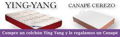 ofertas Navidades packs especiales por la compra del colchón ying yang regalo del canapé 2 colores a elegir