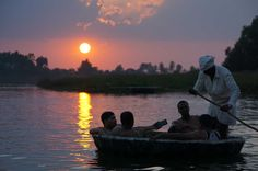 #Guests enjoying #coracle ride (thapa ride)