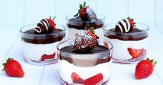 Ein Erdbeer - Traum wird wahr.   Ein leckeres Dessert mit Erdbeeren, einer Creme und einer knackigen Schokoschicht.   Sieht doch schon m...