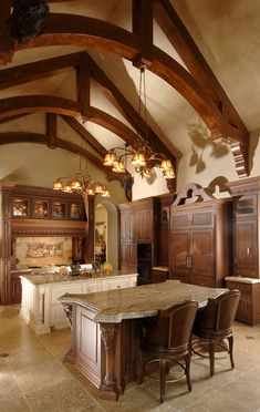 A Medieval Style Kitchen Complete With Stone Interior And Wooden