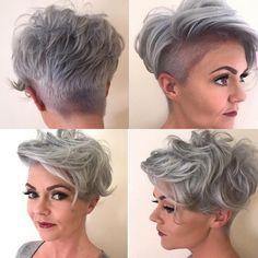 412 vind-ik-leuks, 38 reacties - Jen Caesar (@jcx28) op Instagram: 'I'd be nothing without my hairdresser and @redken ♀️ #greyhair #silverhair #hairstyles #haircuts…' #edgyshorthaircuts