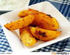 Řecké patates Russian Recipes, Carrots, Banana, Fruit, Vegetables, Kitchen, Invite, Cheesecake, Polish
