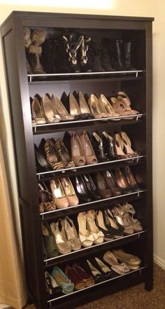 Bookcase as shoe rack