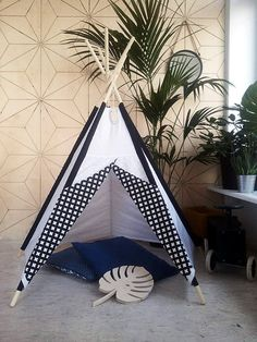 Tipi Kids Play Teepee Tent SALE Little NOMAD white+black / playtent