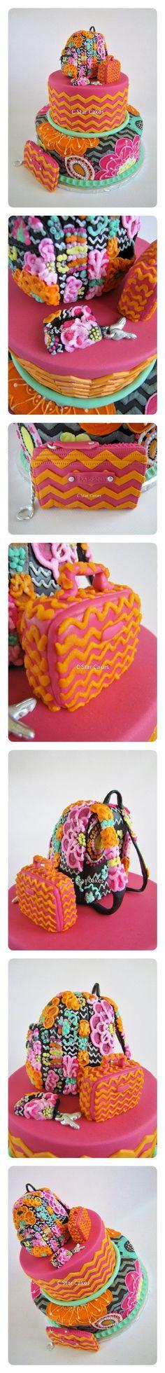 Vera Bradley Ziggy Zinnia cake by C Star Cakes - handbags, pink, michael kors, dooney bourke, country, marc jacobs purse *ad