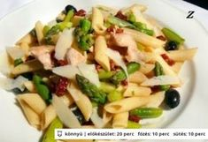 Csirkehúsos - spárgás penne Penne, Feta, Potato Salad, Ale, Healthy Recipes, Healthy Foods, Potatoes, Cheese, Ethnic Recipes