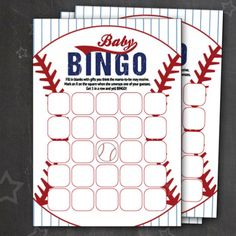 FREE printable baseball baby bingo cards perfect for a sports themed baby shower!