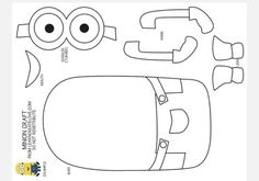 Minion coloring pages free large images Minion Template, Minion Coloring Pages, Kindergarten Drawing, Minion Baby, Deer Cartoon, Felt Monster, Felt Patterns, Felt Fabric, Scrappy Quilts
