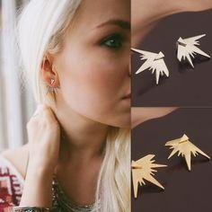 פאנק סגנון משולש עגילי וו אוזן תכשיטי הרבעה עגילי תכשיטי הצהרת אופנה לנשים משלוח חינם
