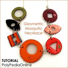 "Polymer Clay Necklace Tutorial Using Metal Mesh - ""Mosquito"" Technique - 14 pages PDF by Iris Mishly - PolyPedia E-Book Vol 14 by irismishly on Etsy https://www.etsy.com/listing/58057270/polymer-clay-necklace-tutorial-using"